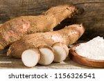raw cassava starch   manihot...   Shutterstock . vector #1156326541
