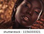 close up portrait of beautiful... | Shutterstock . vector #1156333321