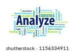 analyze word cloud | Shutterstock .eps vector #1156334911