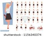 set of woman wear white shirt... | Shutterstock .eps vector #1156340374