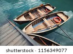 boats and lifebuoy on the lake. ... | Shutterstock . vector #1156349077