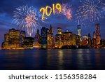 new year's eve in manhattan ...   Shutterstock . vector #1156358284