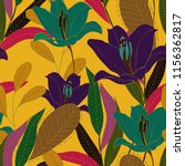 elegance pattern with flowers... | Shutterstock .eps vector #1156362817