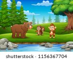 animals are enjoying nature by... | Shutterstock .eps vector #1156367704