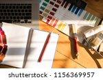 professional decorator drawing... | Shutterstock . vector #1156369957