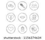 love heart  kiss and wedding... | Shutterstock .eps vector #1156374634