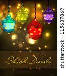 hanging lamp for diwali... | Shutterstock .eps vector #115637869