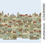 seamless vector border... | Shutterstock .eps vector #1156384084
