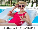 cute grandmother. funny cute... | Shutterstock . vector #1156402864
