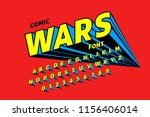 comics style font design ... | Shutterstock .eps vector #1156406014