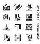 construction materials and... | Shutterstock .eps vector #115641634