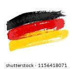 german flag made of brush... | Shutterstock .eps vector #1156418071