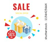 sale special offer up to 50 ... | Shutterstock .eps vector #1156425664