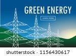 horizontal  green energy... | Shutterstock .eps vector #1156430617