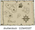 ancient map | Shutterstock .eps vector #115643107