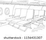 aircraft interior graphic black ... | Shutterstock .eps vector #1156431307
