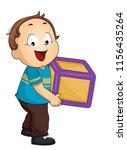 illustration of a kid boy... | Shutterstock .eps vector #1156435264
