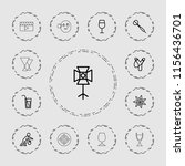shot icon. collection of 13... | Shutterstock .eps vector #1156436701