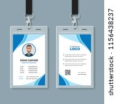 simple blue office id card... | Shutterstock .eps vector #1156438237