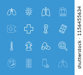 illness icon. collection of 16... | Shutterstock .eps vector #1156455634