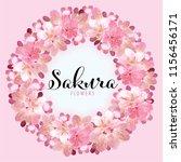 sakura flowers background...   Shutterstock .eps vector #1156456171