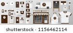 mockup set for coffee shop ... | Shutterstock .eps vector #1156462114