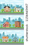 set of three vector... | Shutterstock .eps vector #1156465447