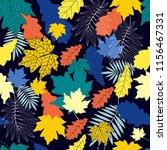 autumn fall leaves seamless... | Shutterstock .eps vector #1156467331