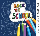 back to school  poster with... | Shutterstock .eps vector #1156471864