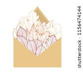 autumn leaves in an envelope....   Shutterstock .eps vector #1156474144