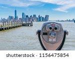 tower coin operated binoculars...   Shutterstock . vector #1156475854