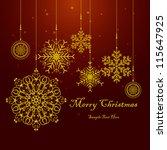 christmas snowflake   christmas ... | Shutterstock .eps vector #115647925