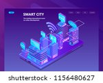 smart city vector site with 3d... | Shutterstock .eps vector #1156480627