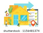 vector flat style concept for... | Shutterstock .eps vector #1156481374