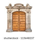 Wooden Double Doors With Iron...