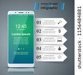 digital gadget  smartphone... | Shutterstock .eps vector #1156484881