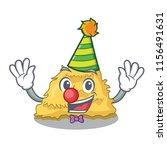 Clown Hay Bale Mascot Cartoon
