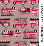 hand drawn fire trucks seamless ...   Shutterstock .eps vector #1156492957