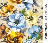 floral vintage greeting... | Shutterstock .eps vector #1156493227