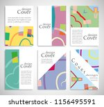 set of a4 cover  abstract... | Shutterstock .eps vector #1156495591