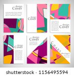 set of a4 cover  abstract... | Shutterstock .eps vector #1156495594