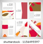 set of a4 cover  abstract... | Shutterstock .eps vector #1156495597