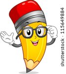 Mascot Illustration Of A Penci...