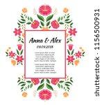vintage flowers wedding save... | Shutterstock .eps vector #1156500931