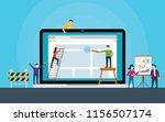 website development team on... | Shutterstock .eps vector #1156507174