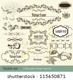 decorative elements for elegant ... | Shutterstock .eps vector #115650871