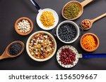 healthy diet concept.top view... | Shutterstock . vector #1156509667