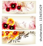 floral vector  cards | Shutterstock .eps vector #115651429