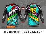 long sleeve motocross jerseys t ... | Shutterstock .eps vector #1156522507