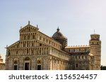 view of the pisa cathedral and... | Shutterstock . vector #1156524457
